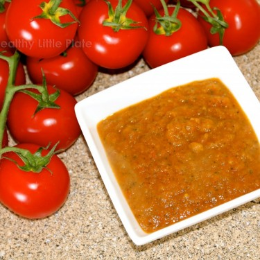 healthy little plate presents beautifully rich flavored homemade tomato sauce