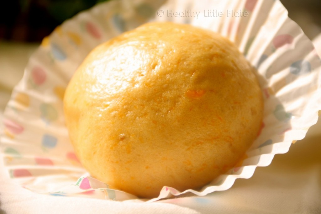 Perfectly shining flavorful pumpkin buns for healthy little tots.