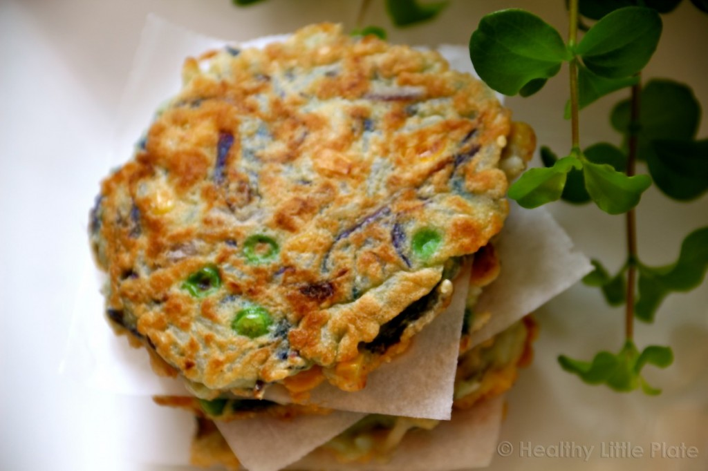 Crunchy Veggie Rice Fritters