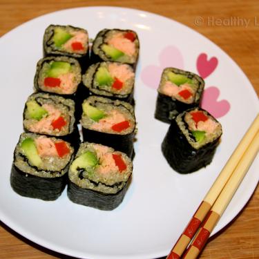 Baked Salmon Quinoa Sushi