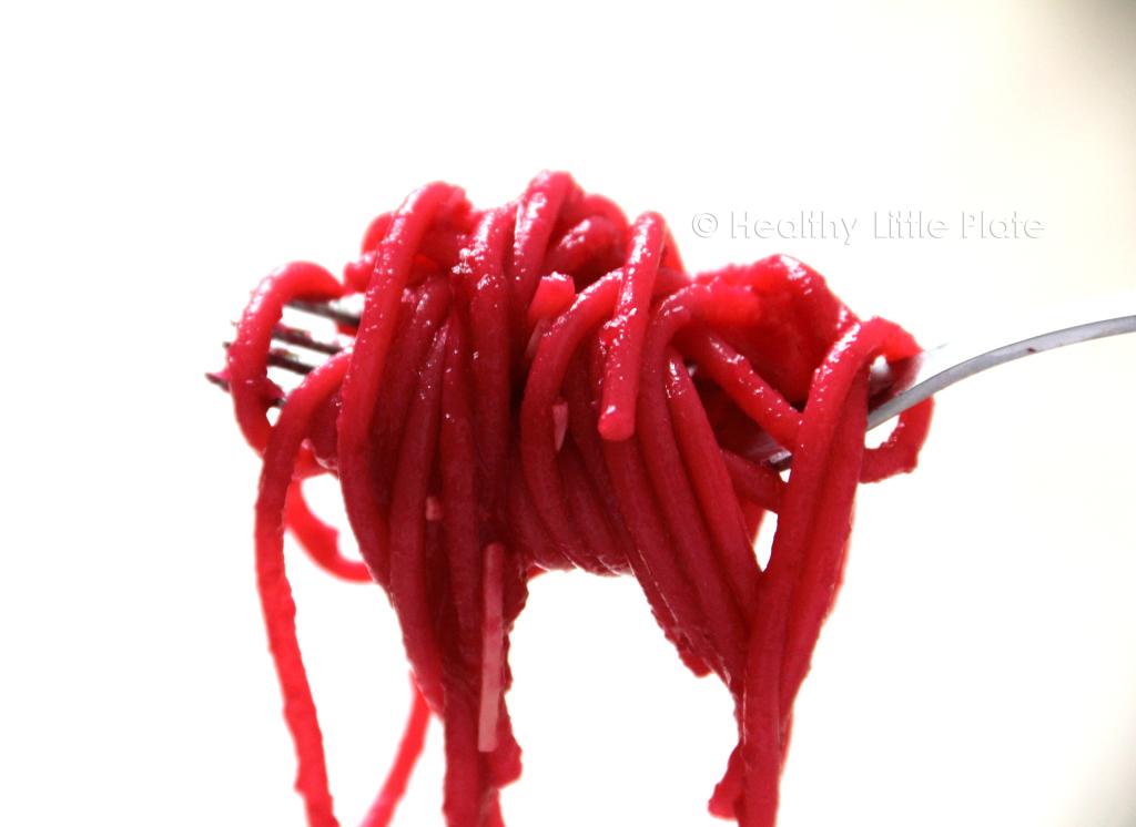 Cold Beet Spaghetti